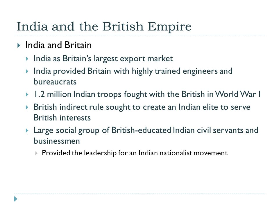 India and the British Empire  India and Britain  India as Britain's largest export market  India provided Britain with highly trained engineers and