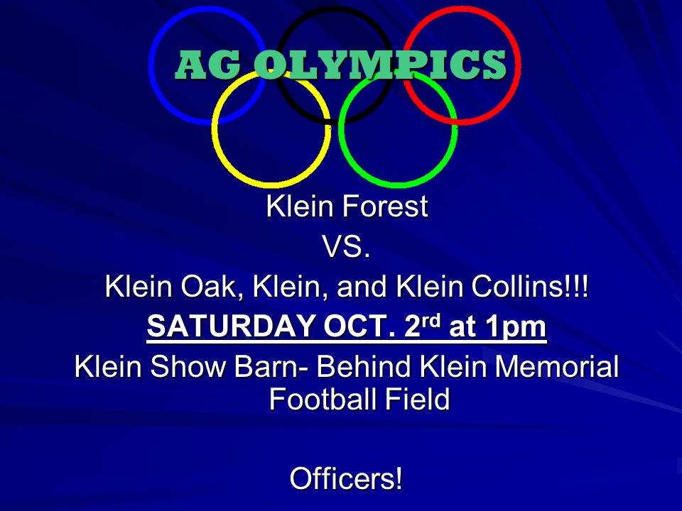 AG OLYMPICS Klein Forest VS. Klein Oak, Klein, and Klein Collins!!.