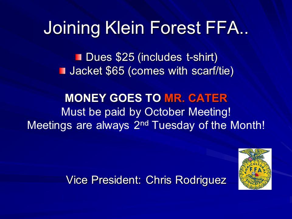 Joining Klein Forest FFA..