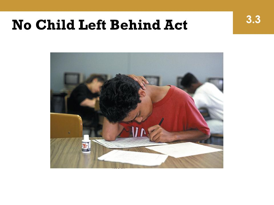 No Child Left Behind Act 3.3