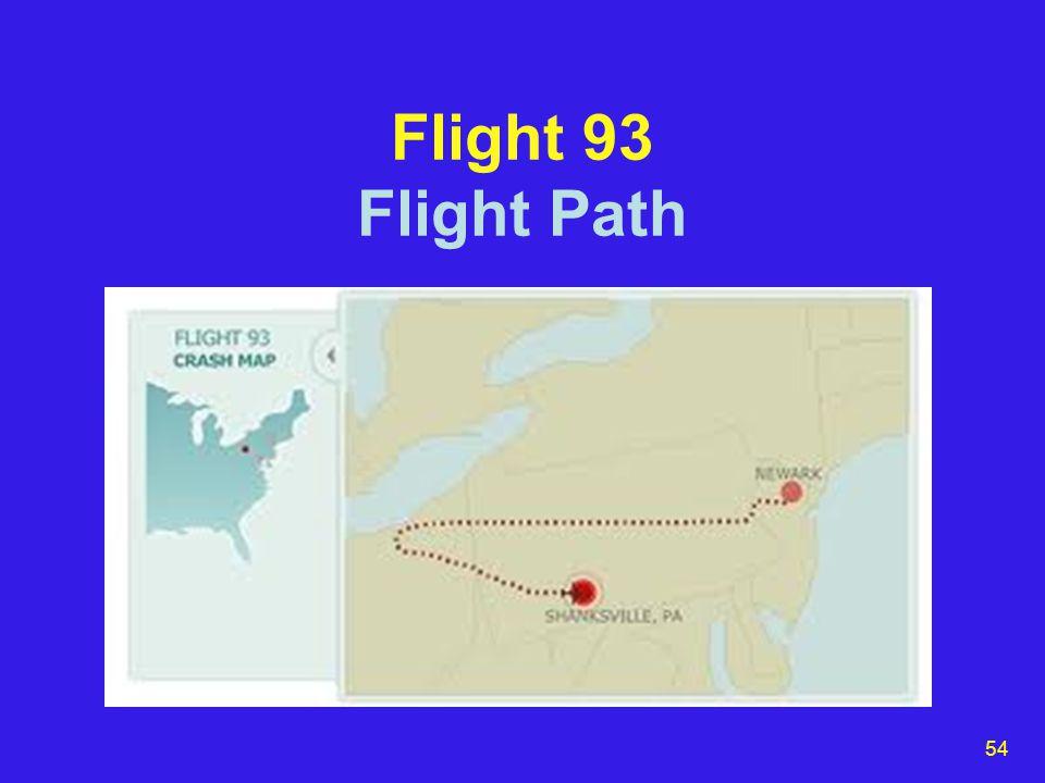 54 Flight 93 Flight Path