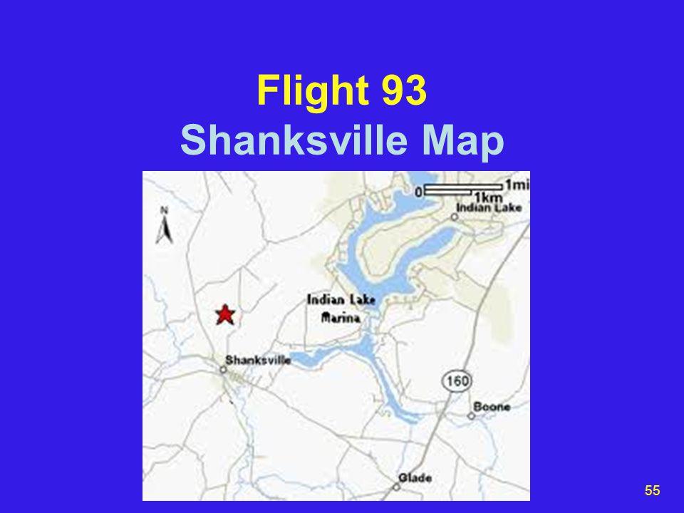 55 Flight 93 Shanksville Map
