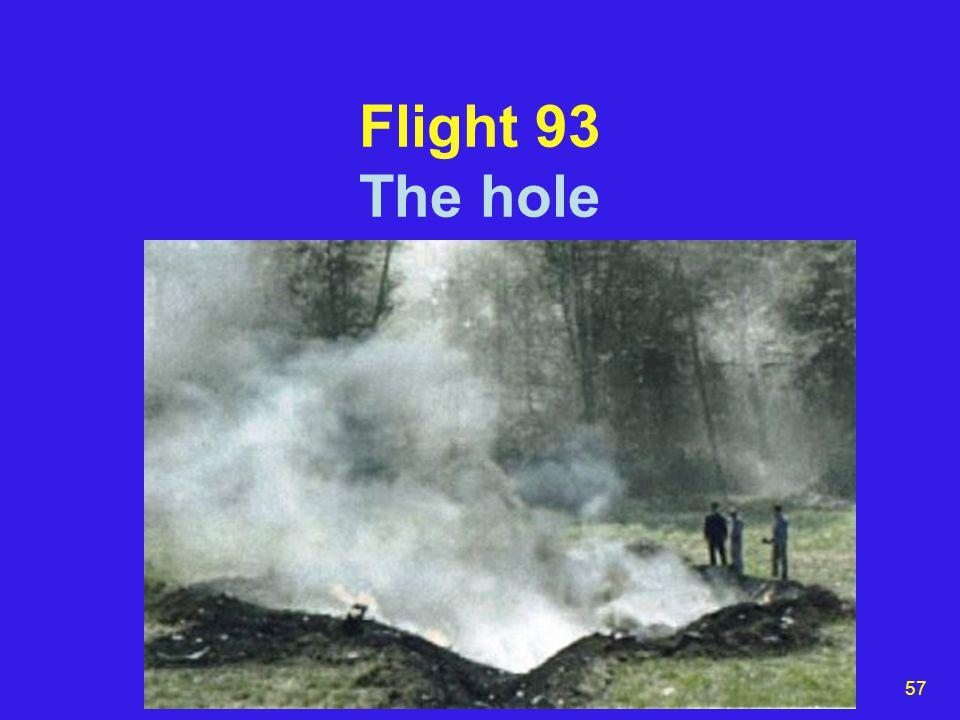 57 Flight 93 The hole