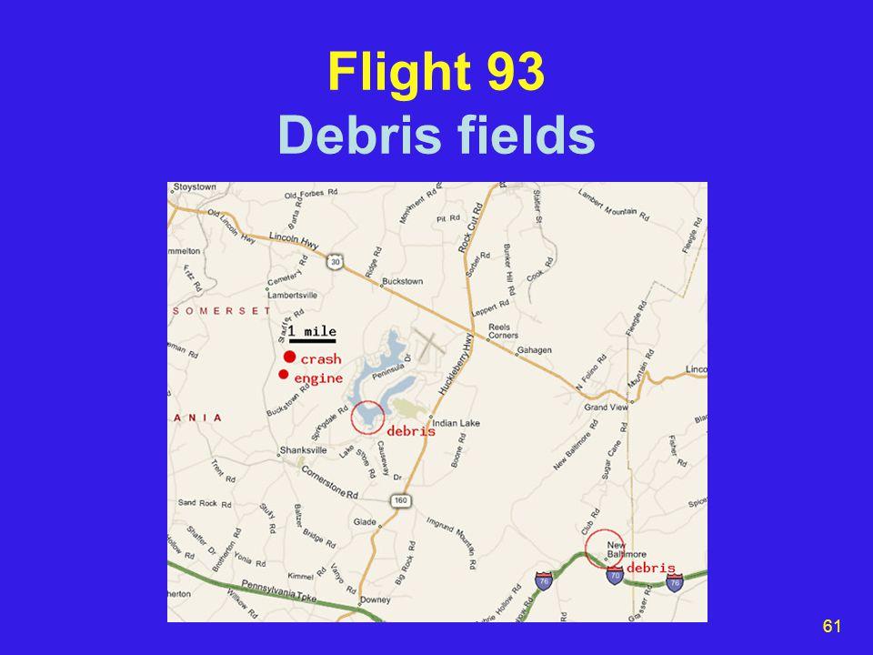 61 Flight 93 Debris fields