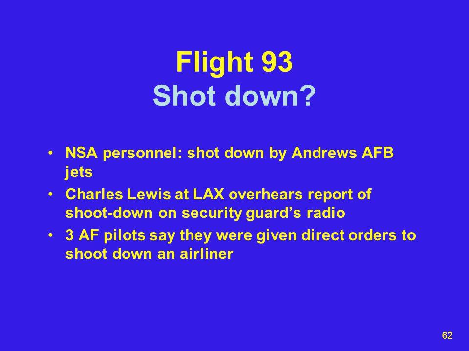 62 Flight 93 Shot down.