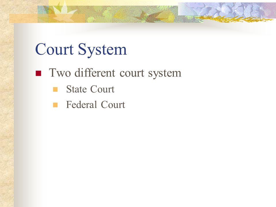 A Tale of Two Cases Is there a U.S.Court of Appeals in Hawaii too.