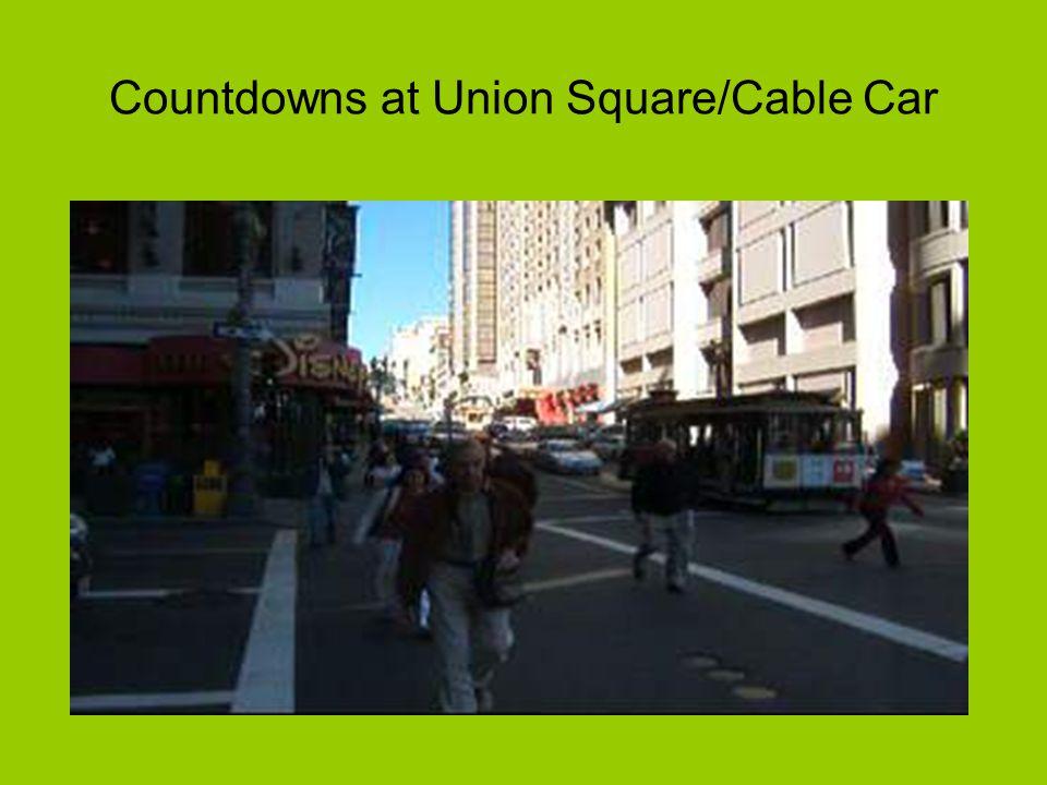 Pedestrian Countdowns: SF Union Square