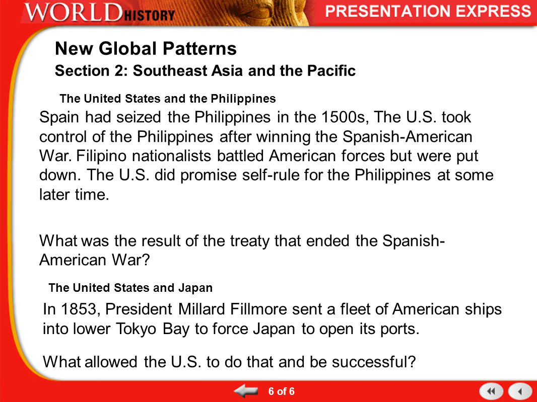 The United States and the Philippines Spain had seized the Philippines in the 1500s, The U.S.