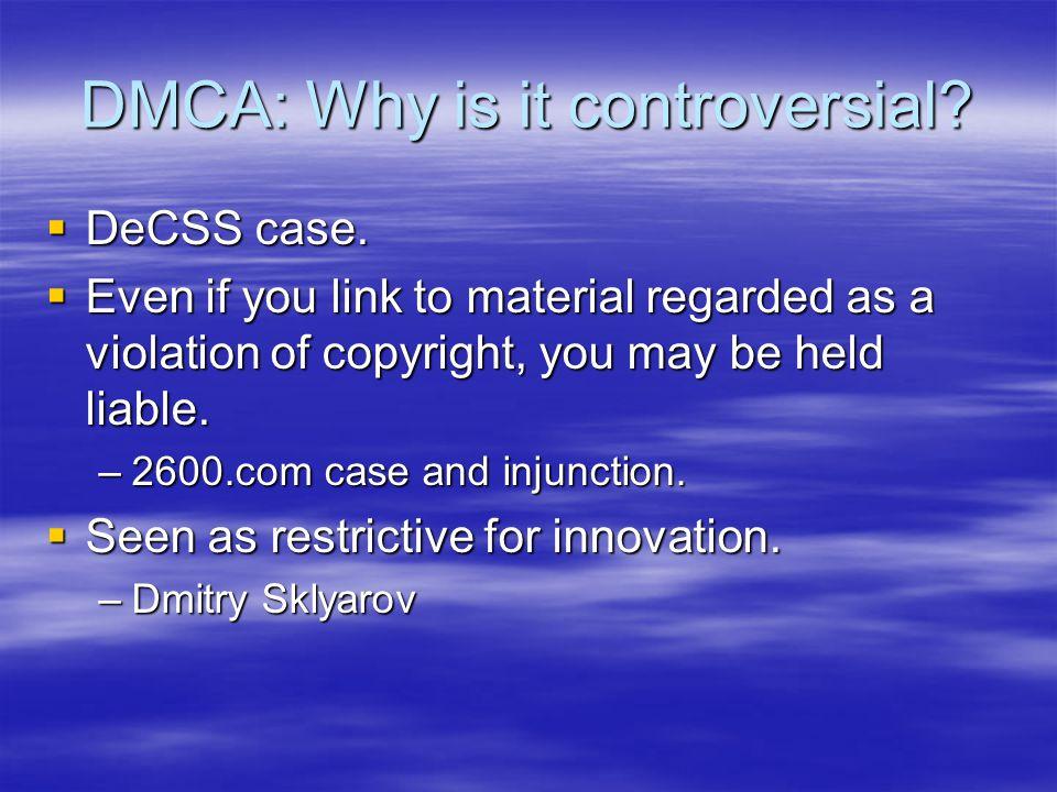 DMCA Online Copyright Infringement Liability Limitation