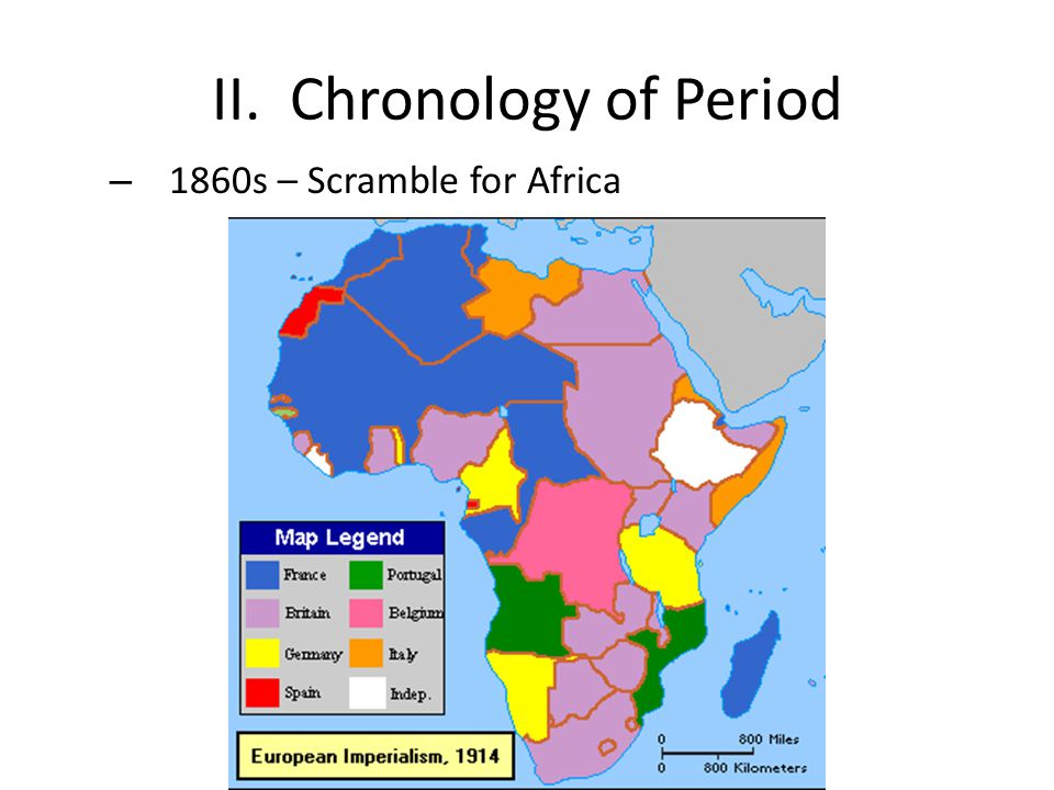 II. Chronology of Period – 1860s – Scramble for Africa
