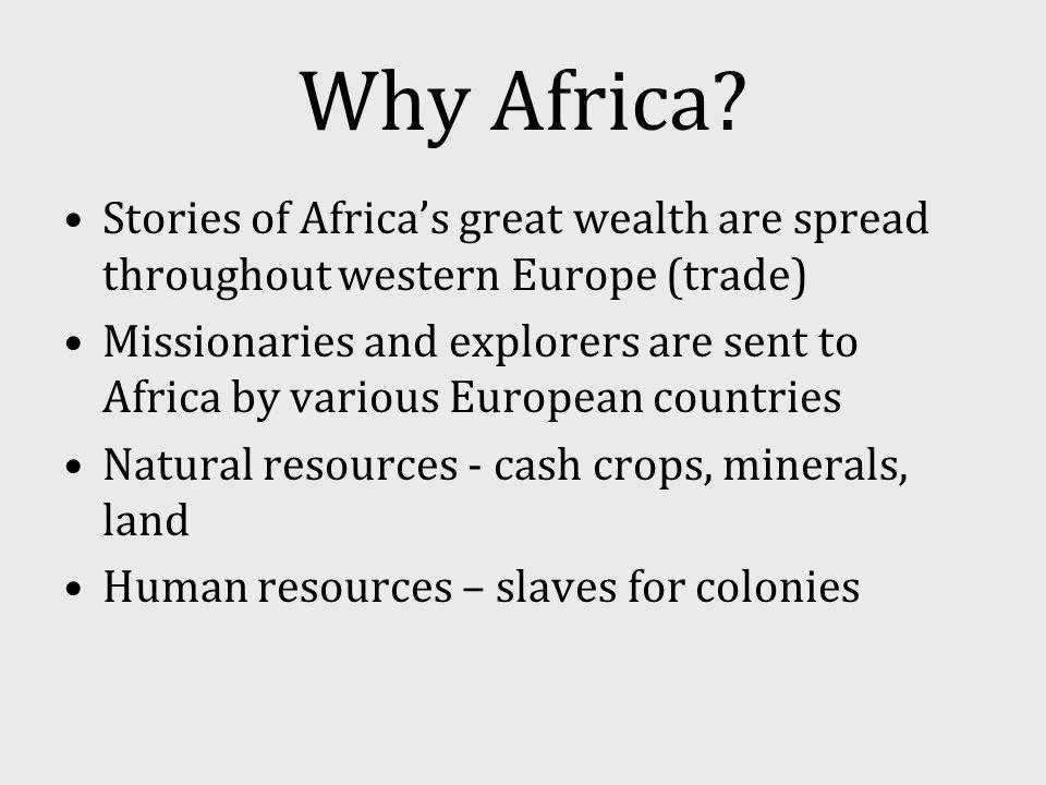 Belgian Colonies Democratic Republic of Congo Rwanda (after WWI) Burundi (after WWI) Libya Eritrea Somalia Italian Colonies Spanish Colonies Western Sahara Morocco Equatorial Guinea Colony Map