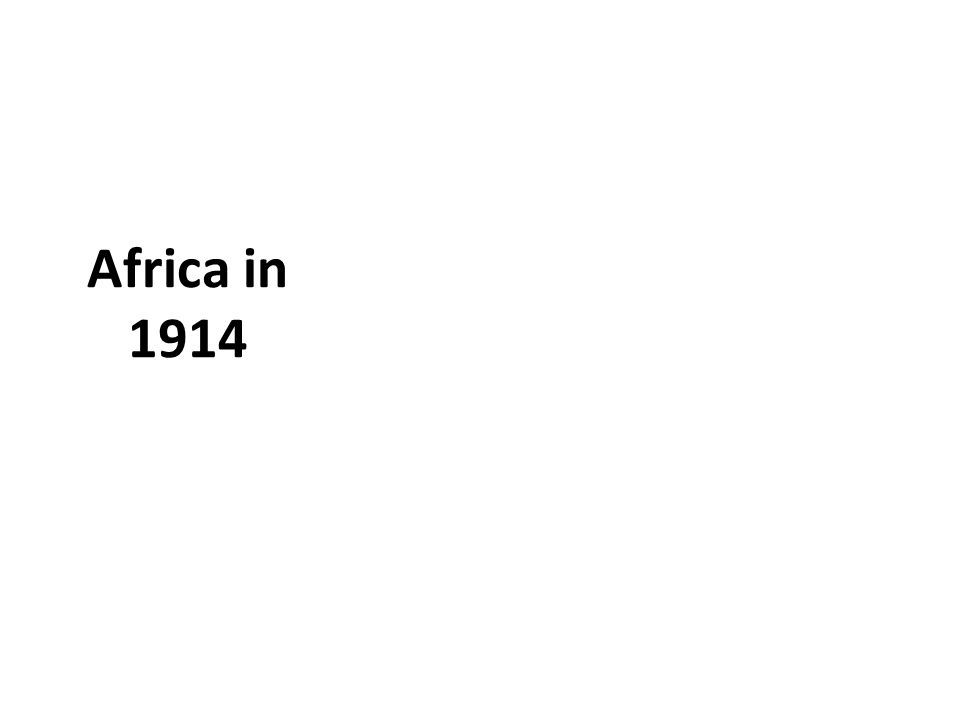 Africa in 1914