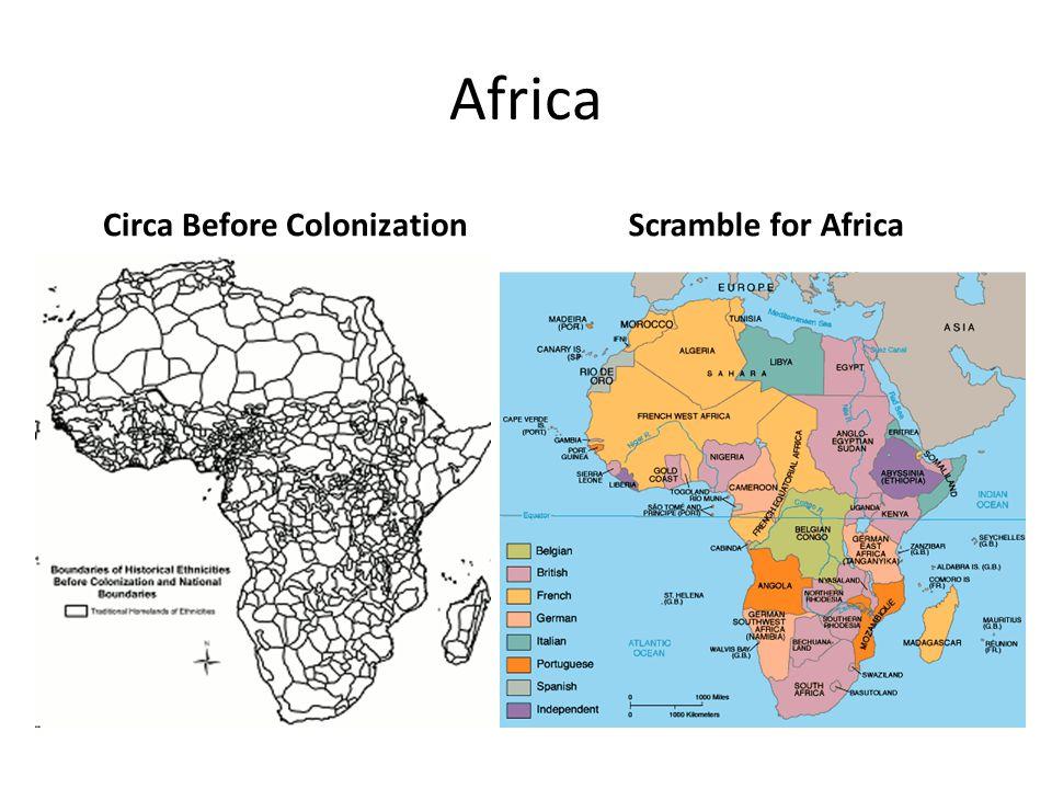 Africa Circa Before ColonizationScramble for Africa