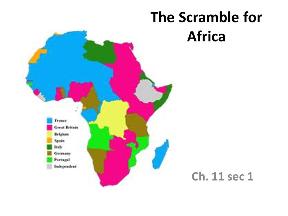 The Scramble for Africa Ch. 11 sec 1