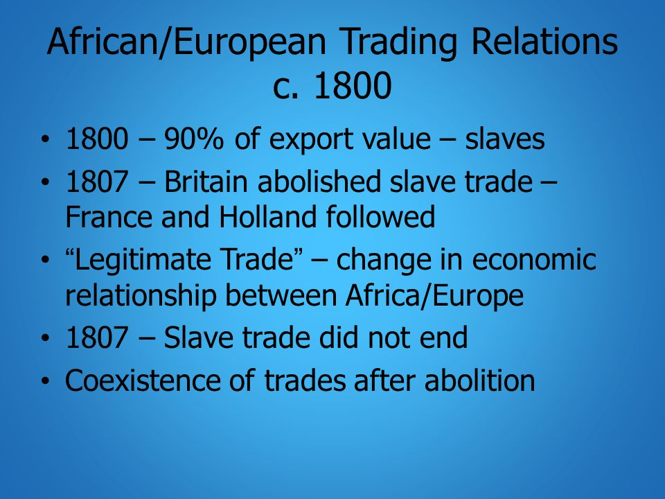 Scramble for Africa: Partition 1860s – British government – committee on viability/benefits of colonies around world Conclusion: Too costly, not worth expenditure – abandon colonies, outdated British dominance in production – imperialism of free trade Time of free trade/laissez faire policies