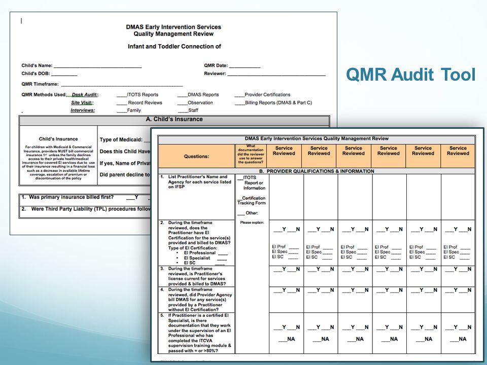 QMR Audit Tool