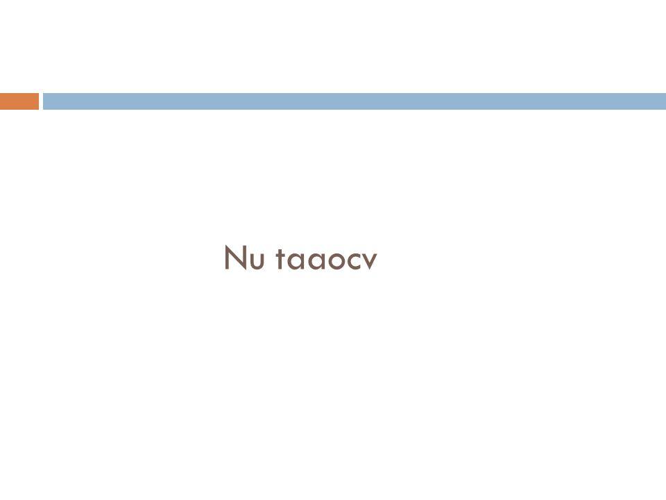 Nu taaocv