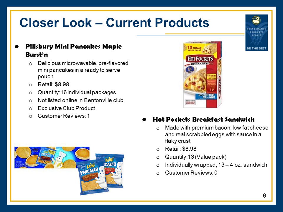 Closer Look – Current Products Pillsbury Mini Pancakes Maple Burst'n o Delicious microwavable, pre-flavored mini pancakes in a ready to serve pouch o