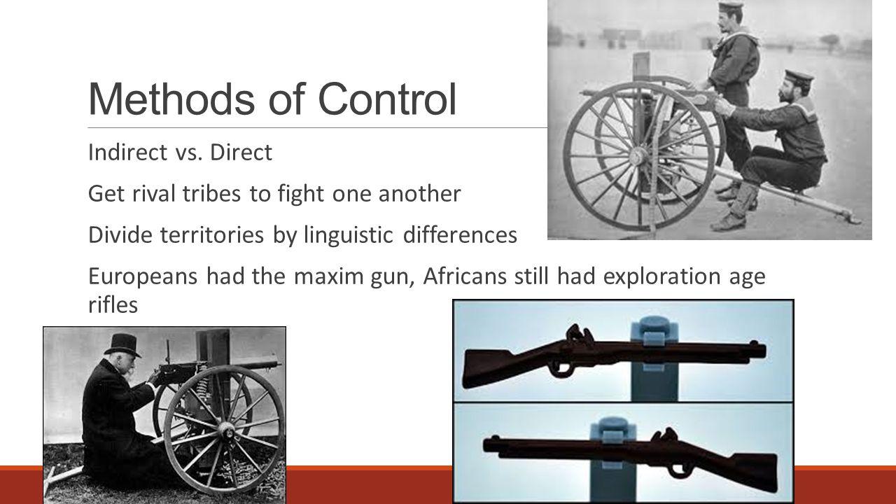 Methods of Control Indirect vs.