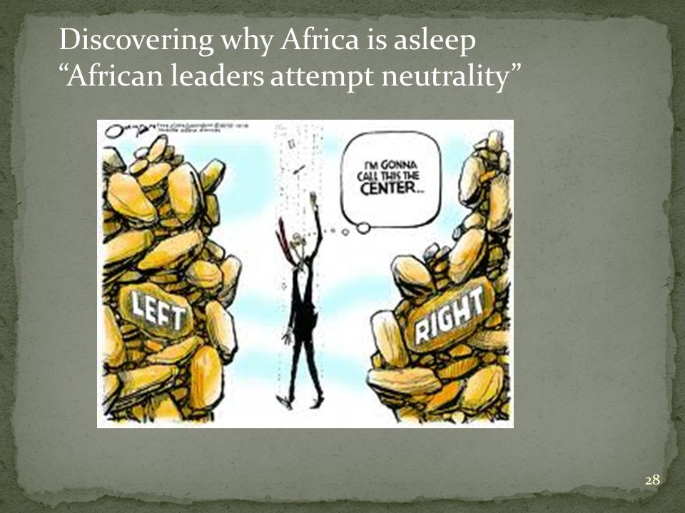 28 Discovering why Africa is asleep African leaders attempt neutrality
