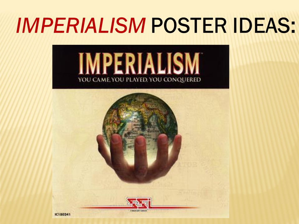"""IMPERIALISM LESSON #5  Highlight Cornell Notes Lesson #4, answer the four HOT questions and complete the """"Summary Paragraph section.  Work on your I"""