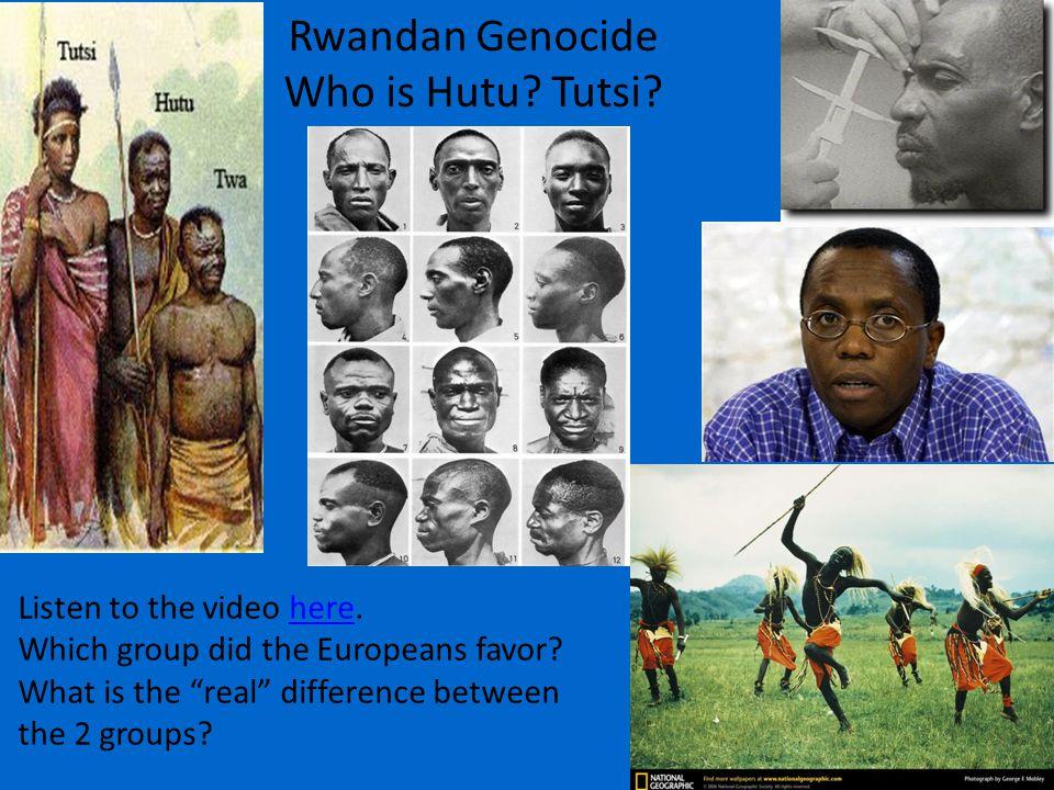 Rwandan Genocide Who is Hutu. Tutsi.