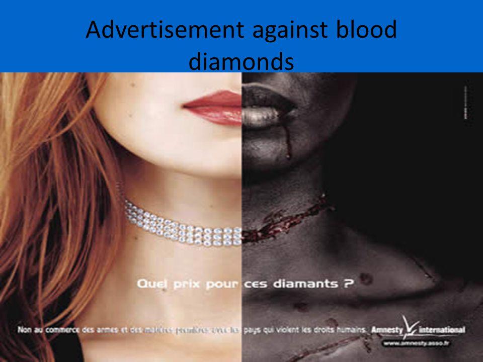 Advertisement against blood diamonds