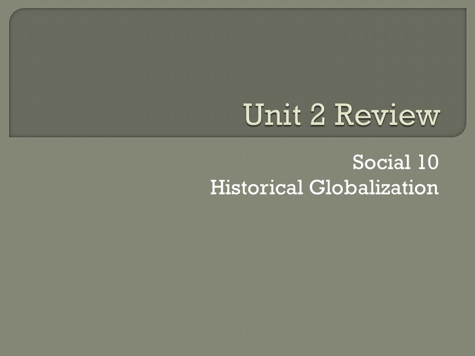 Social 10 Historical Globalization