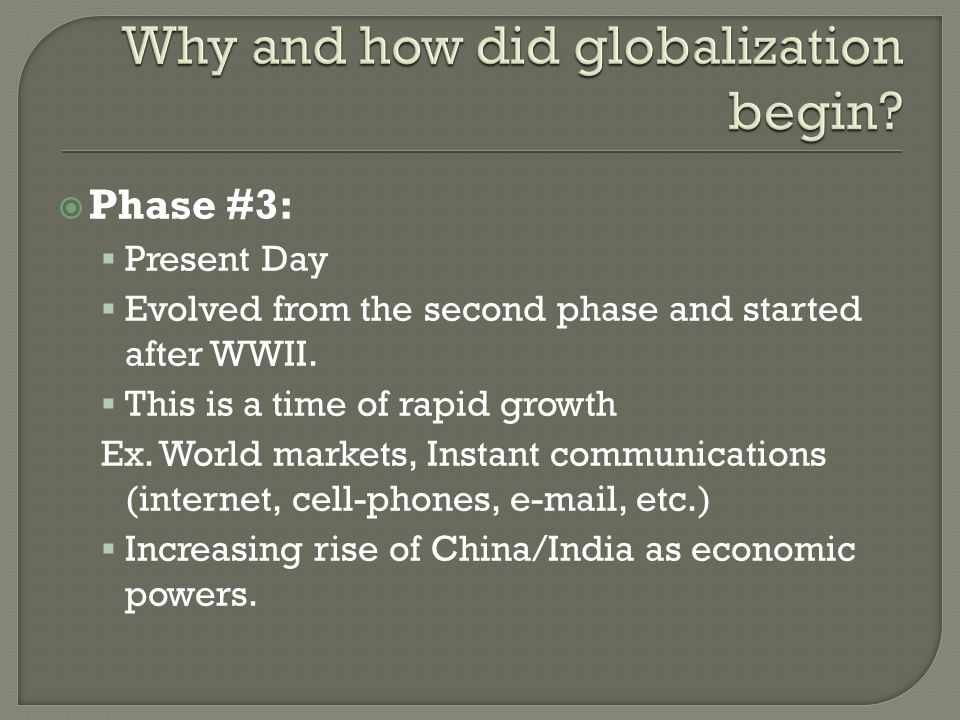 1.Creation of Printing Press 2. Rise of European Middle Class 3.
