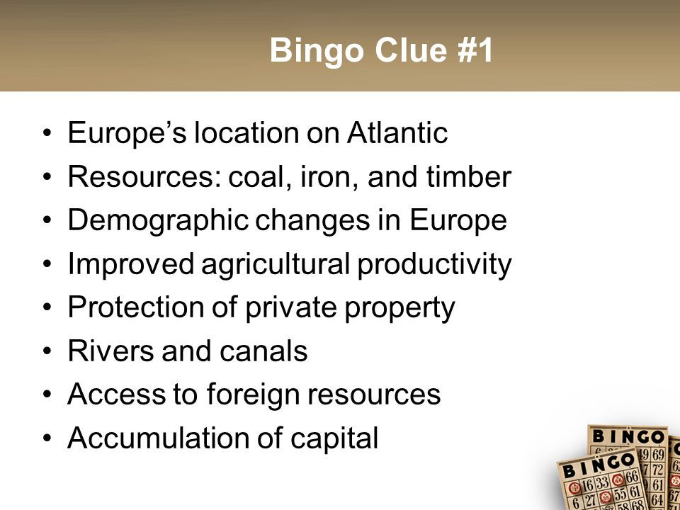 Bingo Clue #22 Inspired by the Haiti and ideas of the Enlightenment Led by Simon Bolivar Large social and economic chasm between the few elite and the many poor Elites remained in power after the revolution Stable government was a common difficulty Lack of significant social and economic change Women's rights were not a priority