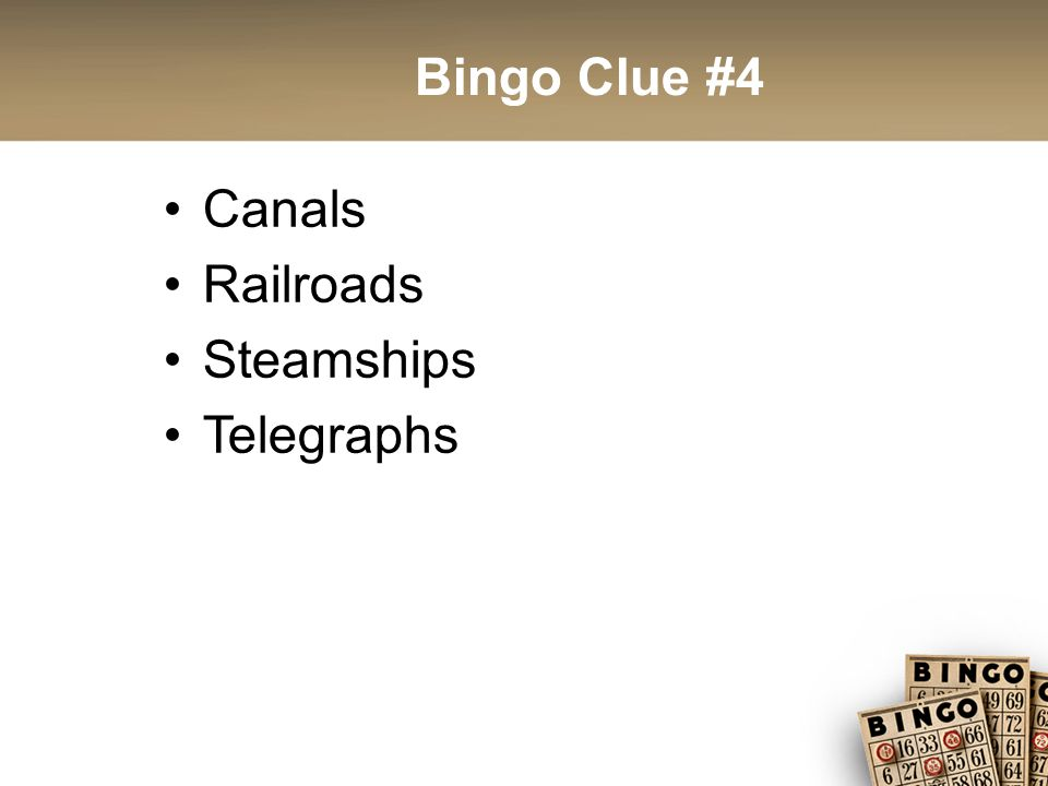 Bingo Clue #15 The idea that civilizations with superior technology and tactics deserved to conquer those without thee advantages – was a powerful force in this era Led to increase of racist ideologies Europeans determined to civilize their little brothers by dressing them in Western fashions and teaching them Western behavior