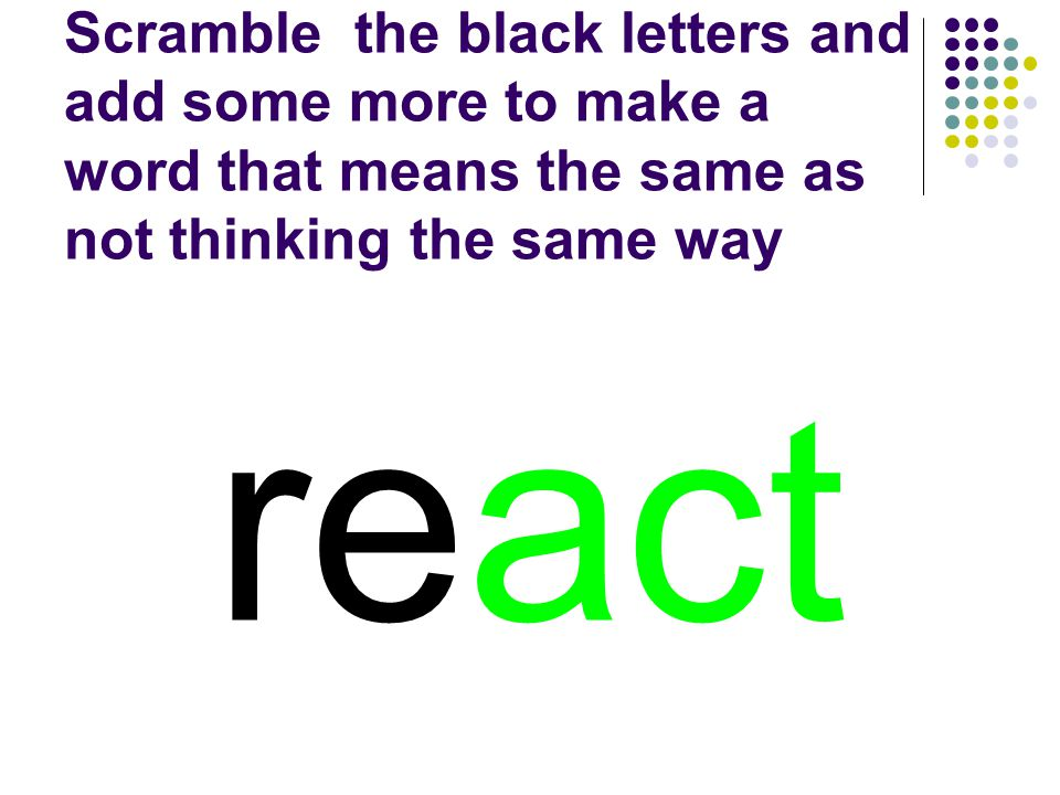 react You should have spelled…