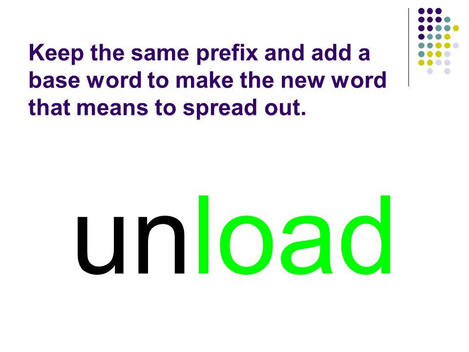unload You should have spelled…