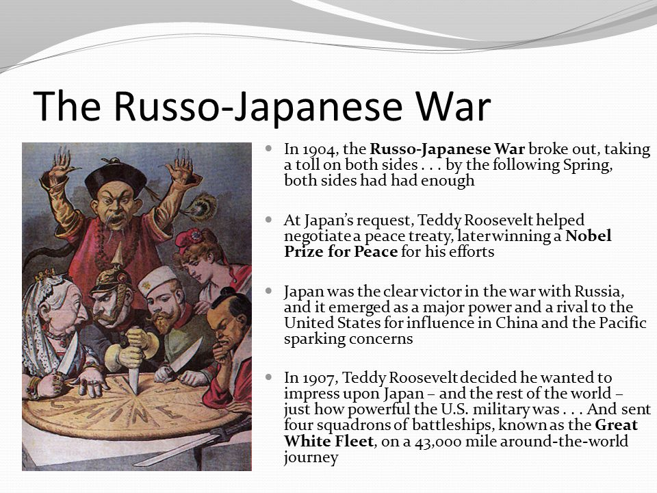 The Russo-Japanese War In 1904, the Russo-Japanese War broke out, taking a toll on both sides... by the following Spring, both sides had had enough At
