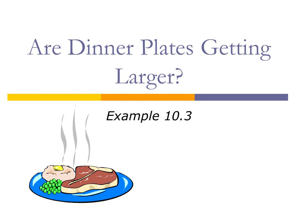 Are Dinner Plates Getting Larger? Example 10.3