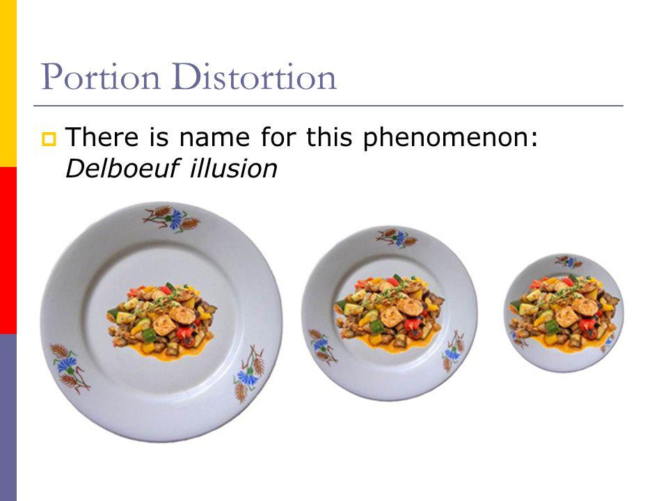 Portion Distortion  There is name for this phenomenon: Delboeuf illusion