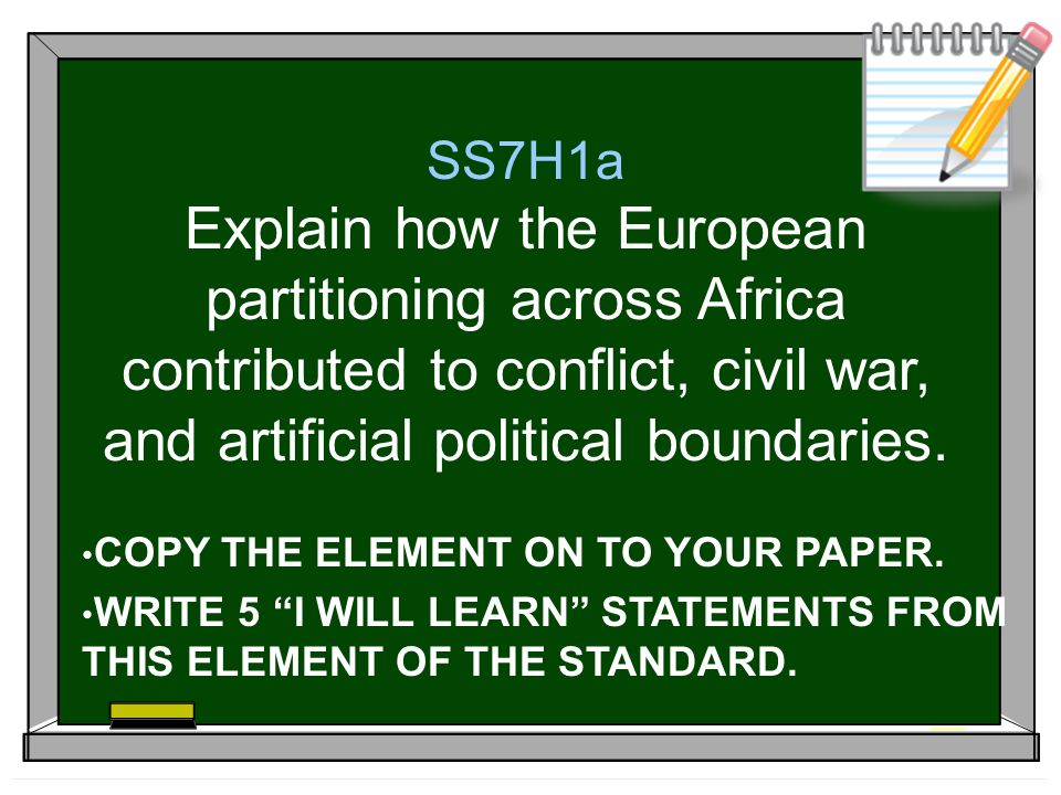 1.Why was there a Mad Scramble for European countries to claim African land.