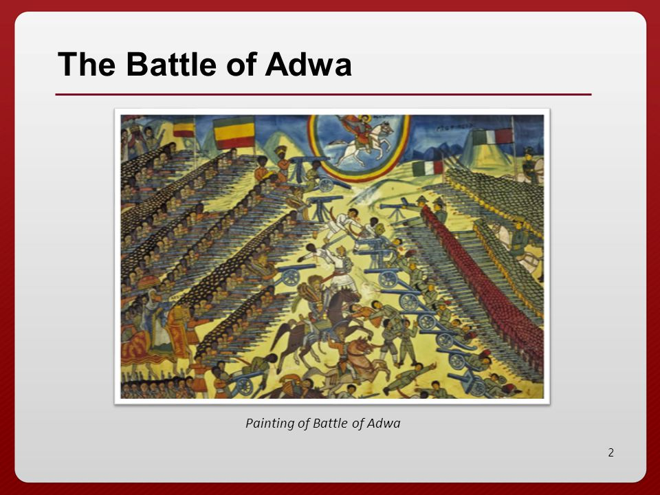 2 Painting of Battle of Adwa