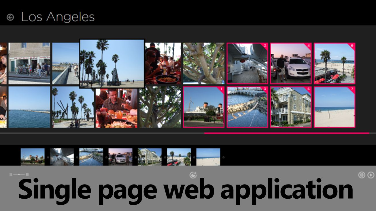 Single page web application