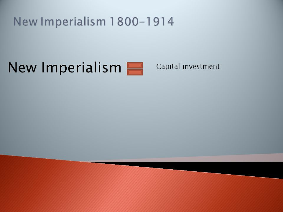 New Imperialism Capital investment