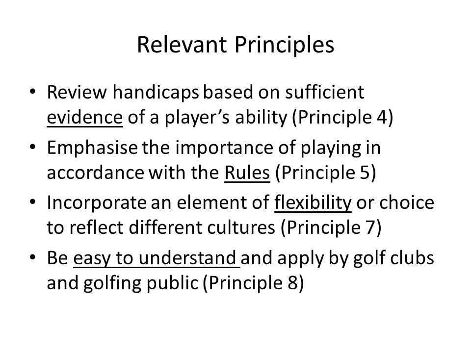 Summary Uniformity - Flexibility - Play by the Rules - Simplicity