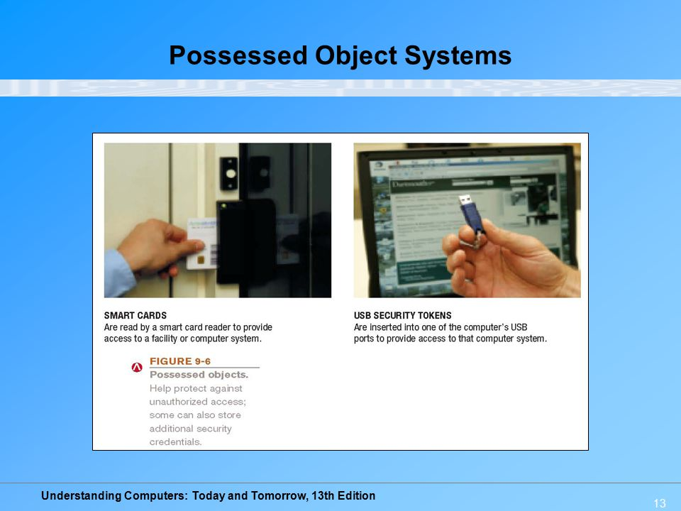 Understanding Computers: Today and Tomorrow, 13th Edition 13 Possessed Object Systems
