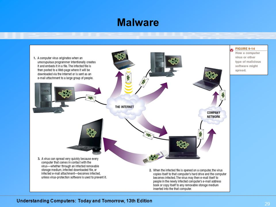Understanding Computers: Today and Tomorrow, 13th Edition 29 Malware