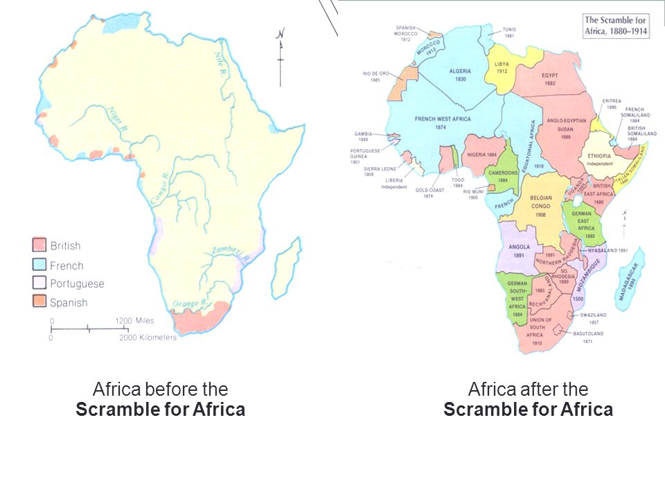 Africa before the Scramble for Africa Africa after the Scramble for Africa