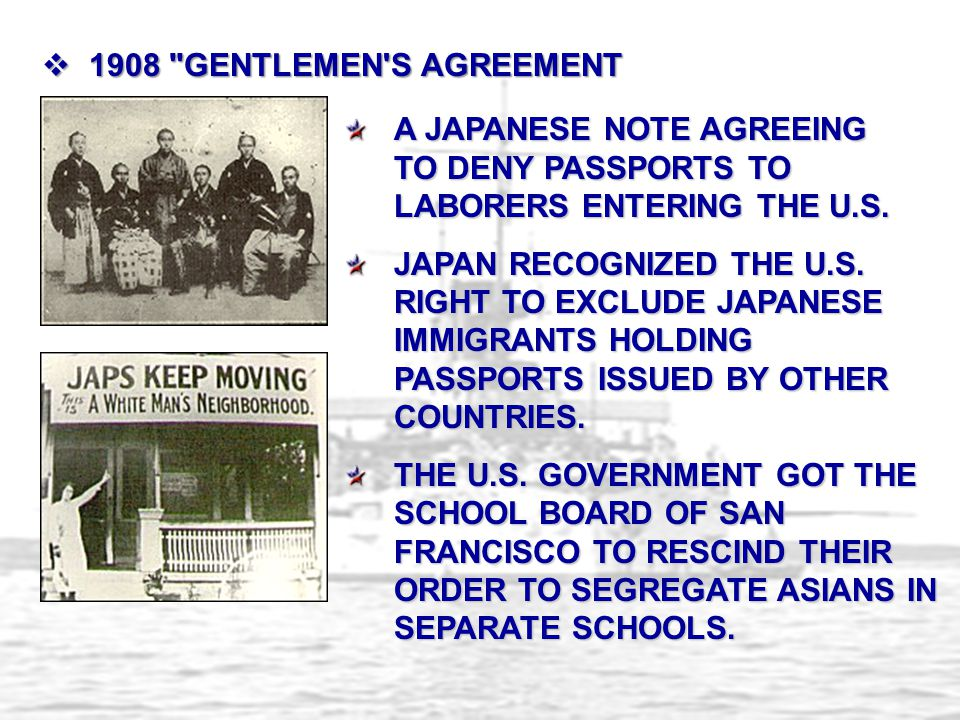 A JAPANESE NOTE AGREEING TO DENY PASSPORTS TO LABORERS ENTERING THE U.S.