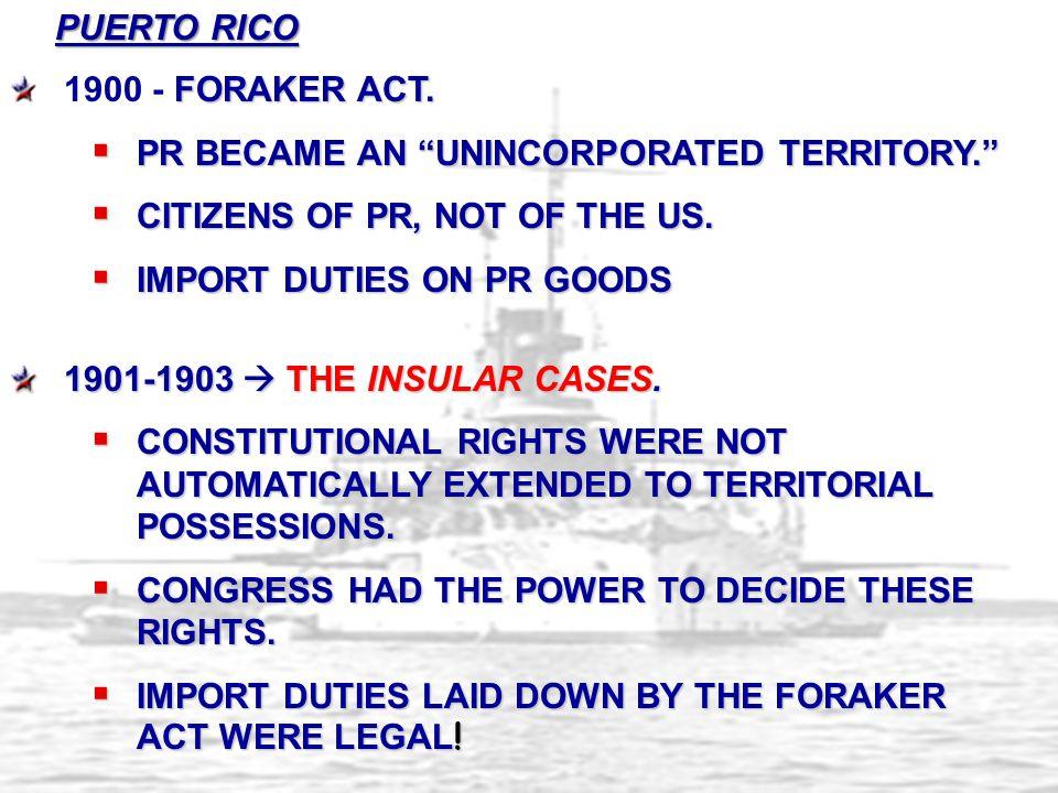 FORAKER ACT.1900 - FORAKER ACT.