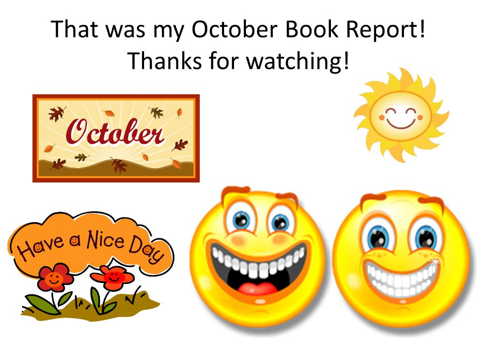 That was my October Book Report! Thanks for watching!