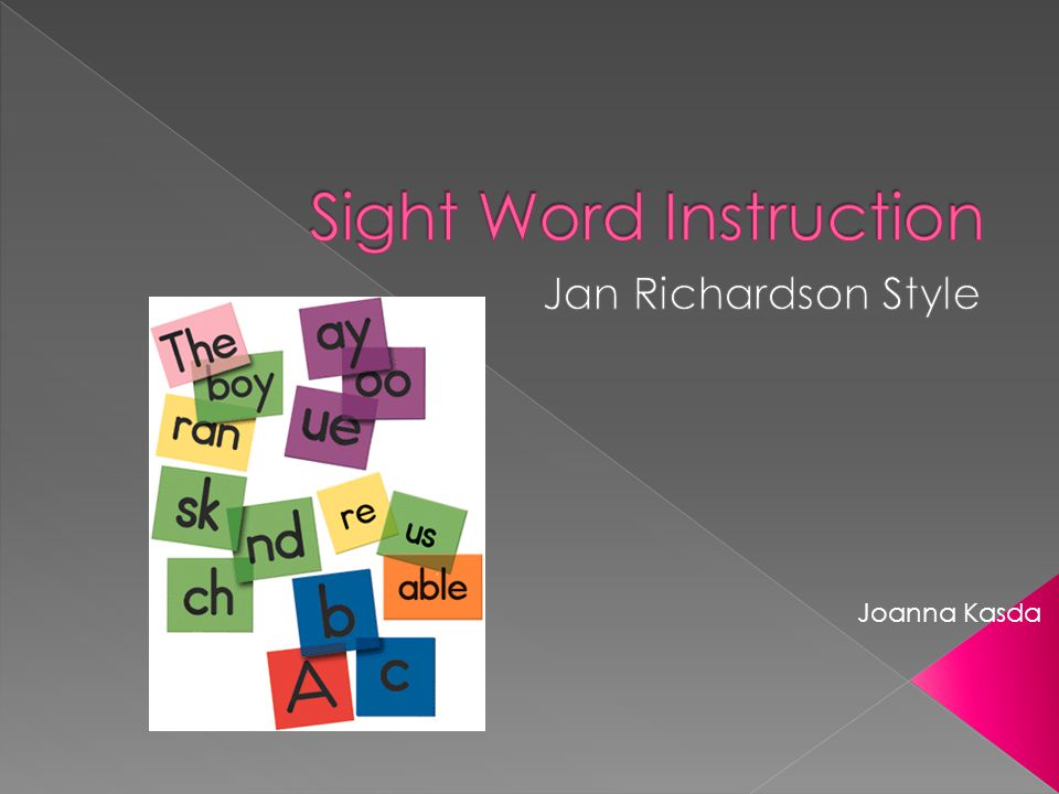  Author Jan Richardson Educational Consultant Taught every grade K- 12 Reading specialist, Reading Recovery teacher leader, and staff developer PhD in reading