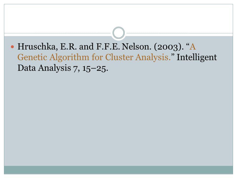 Hruschka, E.R. and F.F.E. Nelson. (2003).