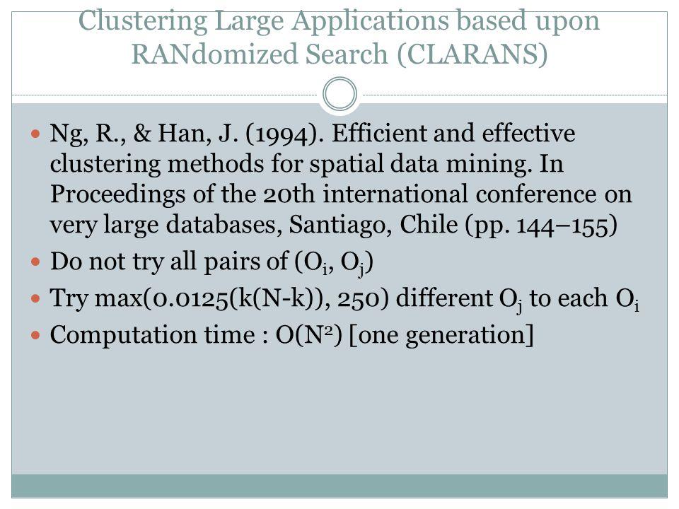 Experiment GCA versus CLARA (k = 50)